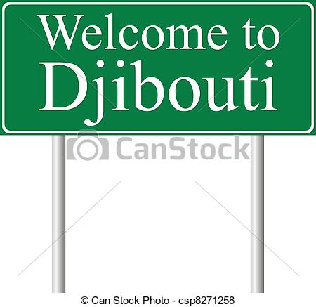Vector of Welcome to Djibouti, concept road sign isolated on white.