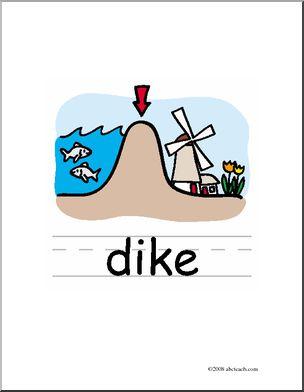 Clip Art: Basic Words: Dike Color (poster).