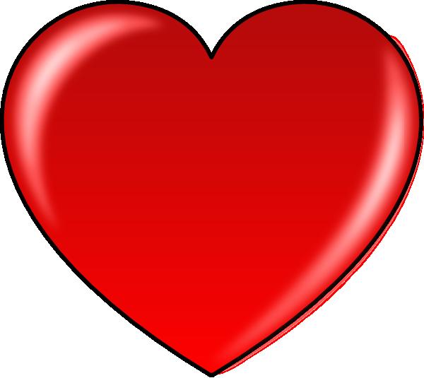Red Heart Clip Art at Clker.com.