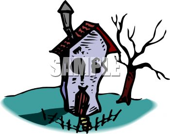 Dilapidated house clipart.