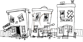 Run Down House Clipart.