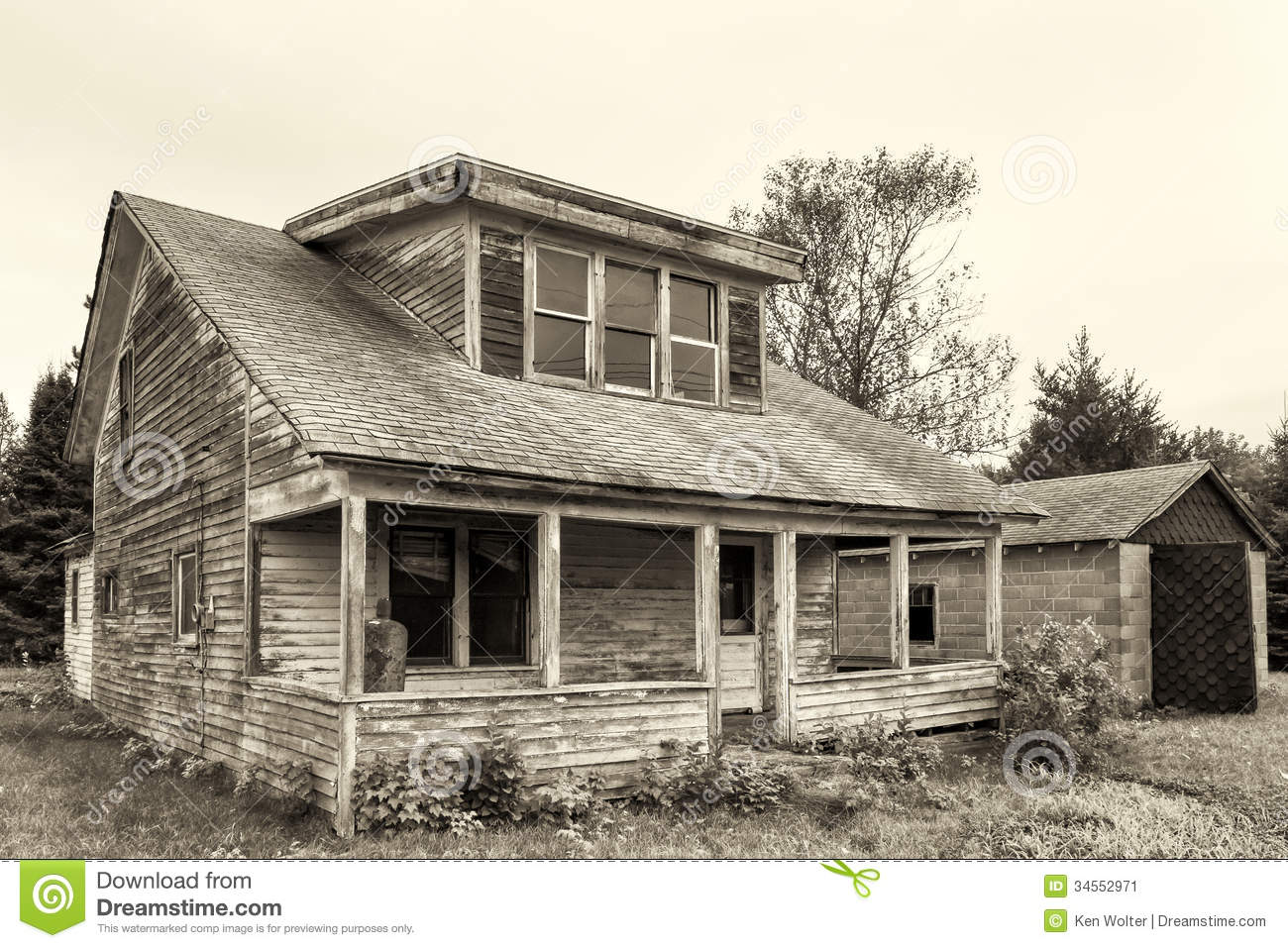 Abandoned And Dilapidated House Stock Image.