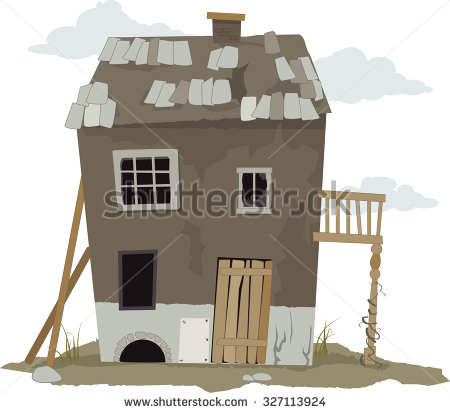 Dilapidated House Stock Photos, Royalty.