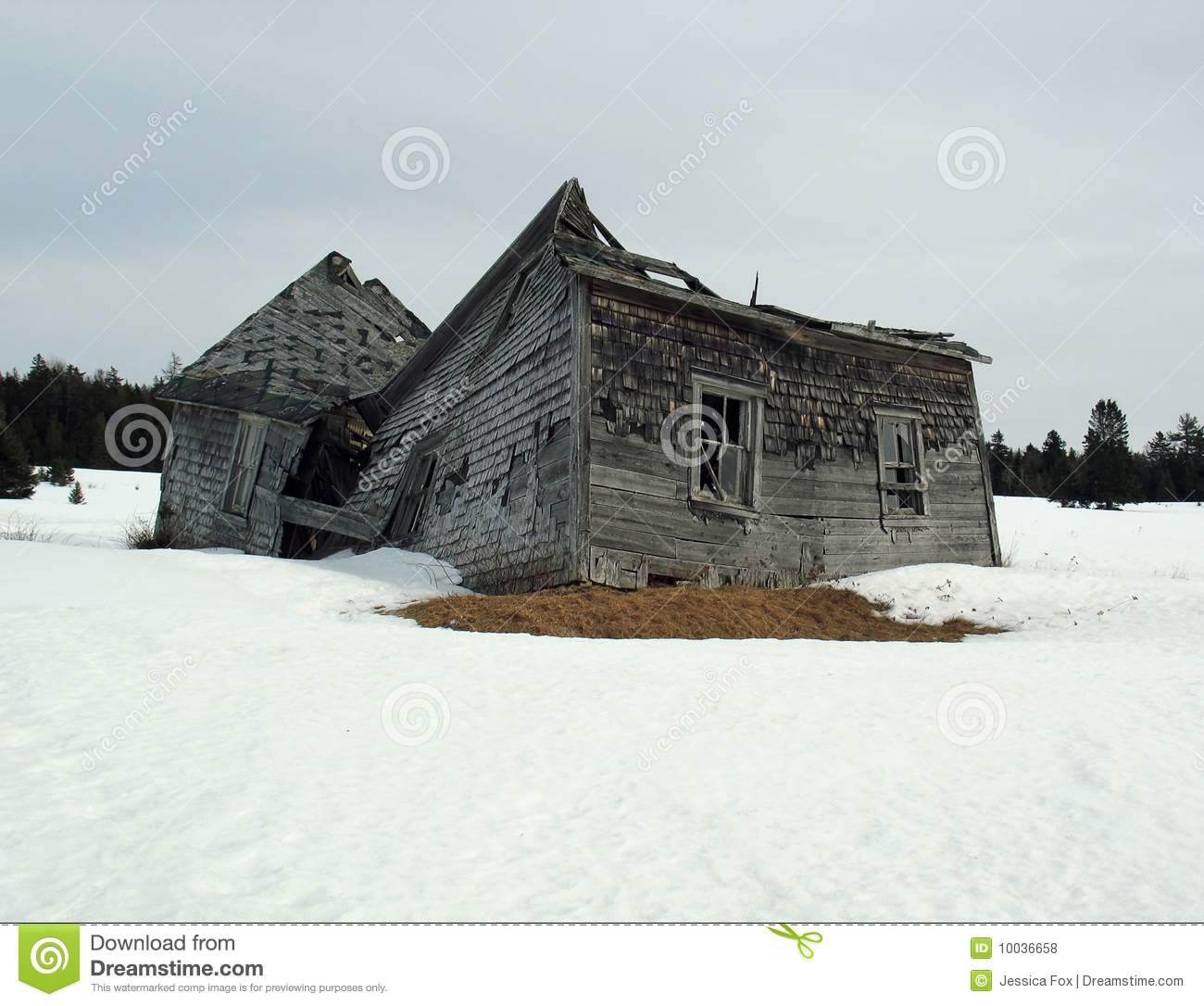 Dilapidated House Royalty Free Stock Photos.