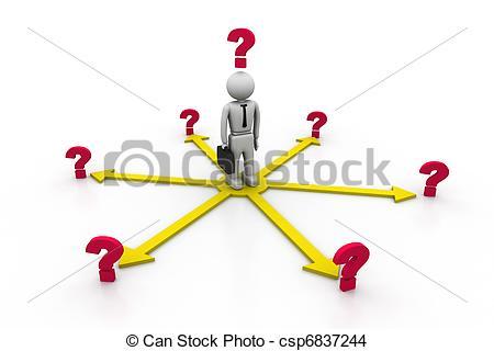 Stock Illustration of Choices Dilemma.