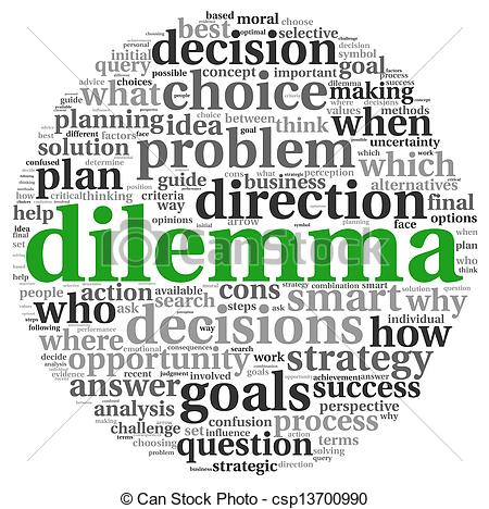 Dilemma clipart.
