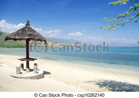 Stock Photo of beach and coast near dili in east timor.