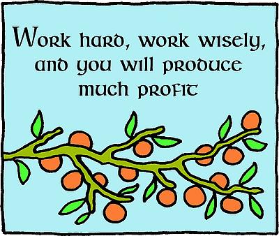 Work and Profit clip art.