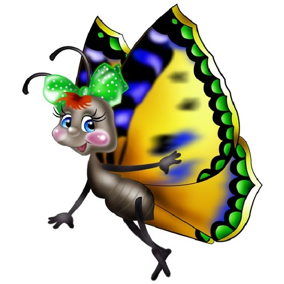 Funny Cartoon Butterfly Images. Clip Art Images Are On A.