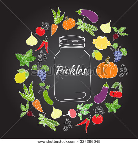 Dill Pickle Stock Vectors, Images & Vector Art.
