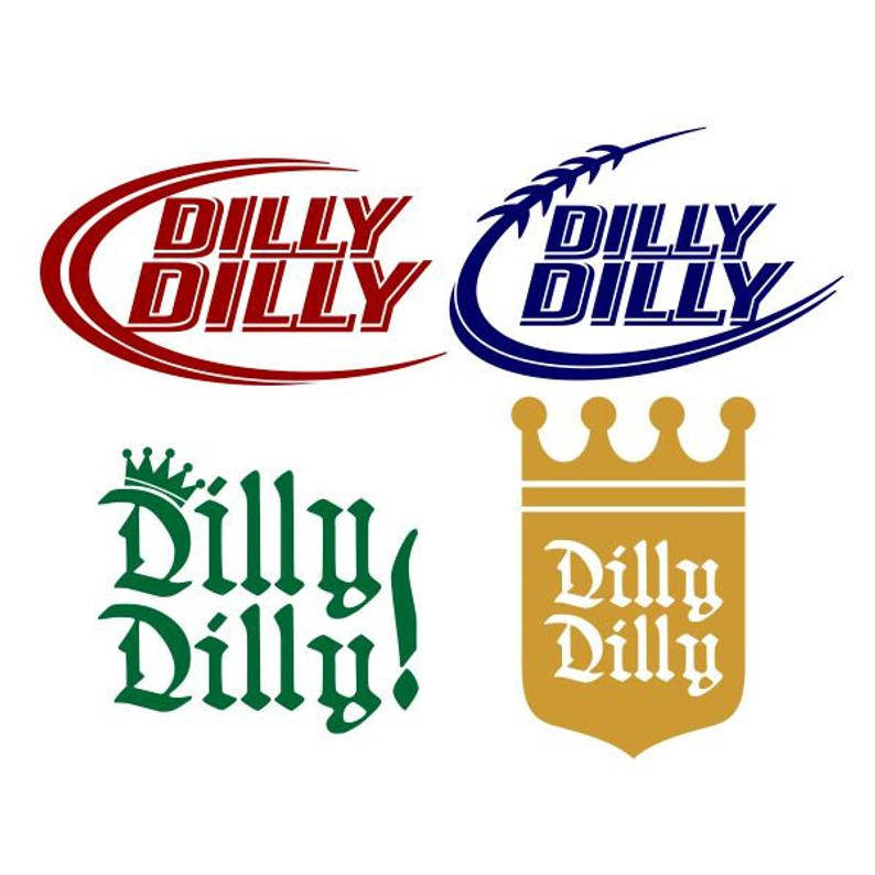 Dilly Dilly Pack Cuttable Design SVG PNG DXF & eps Designs Cameo File  Silhouette.
