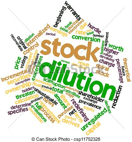 Clip Art of Stock dilution.