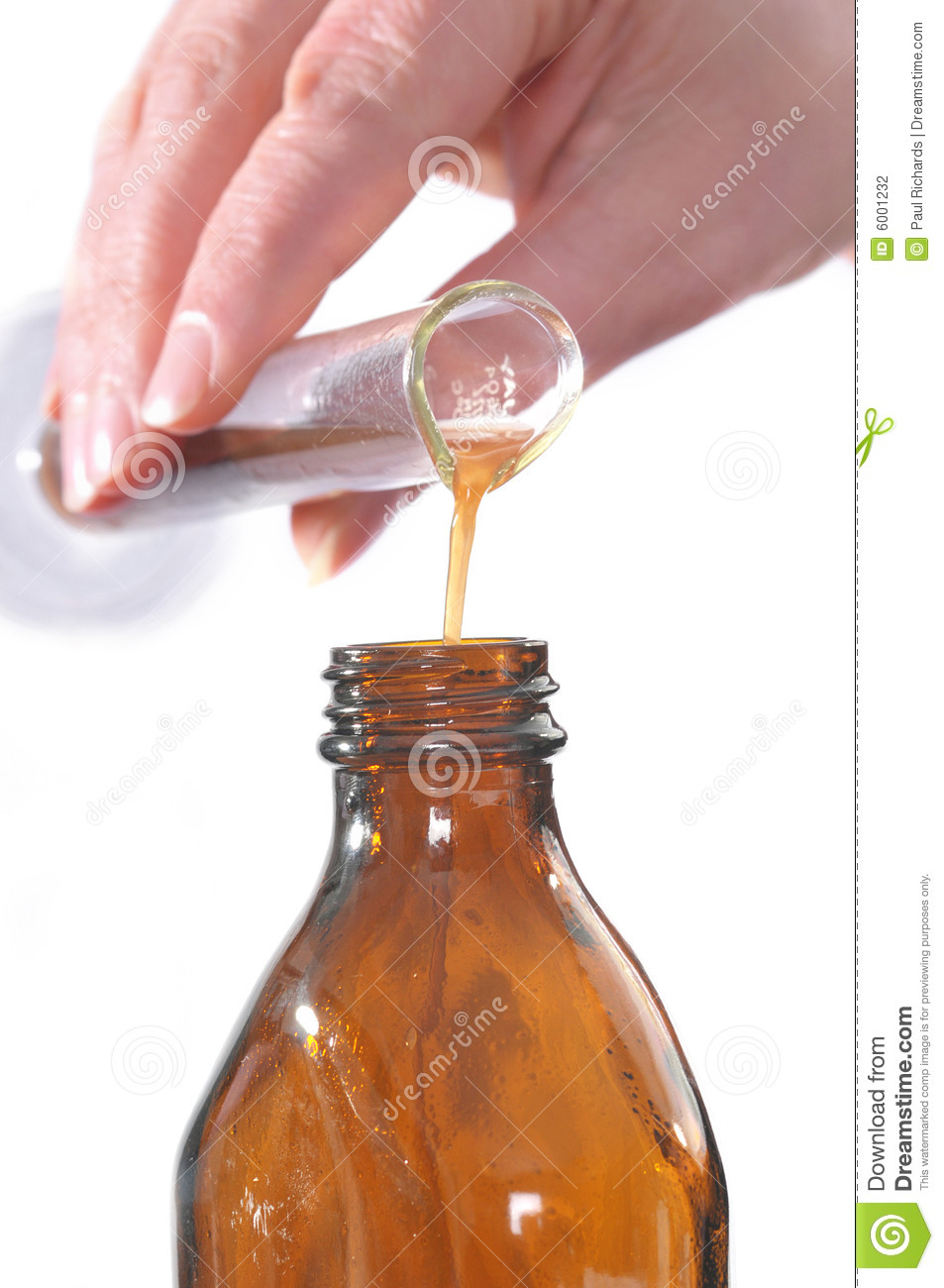 Pouring Solution Of Herbs Stock Photography.