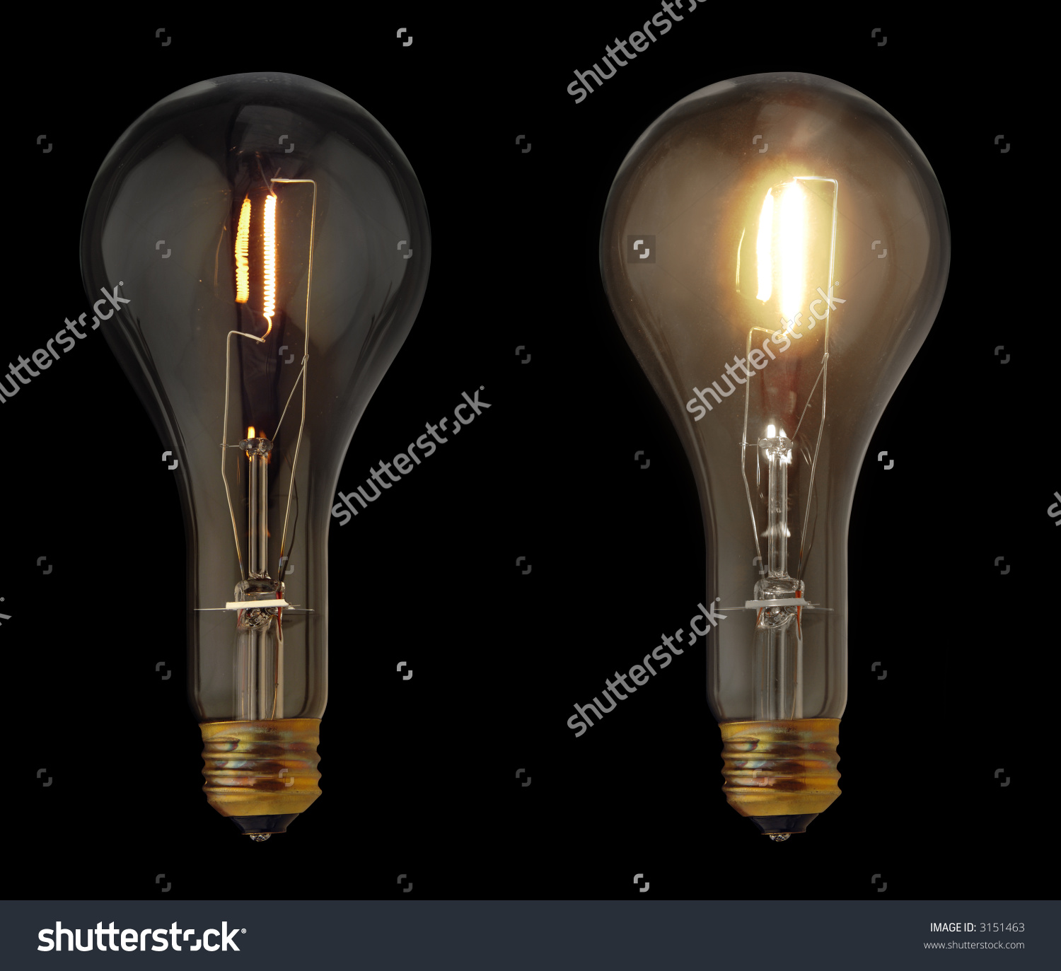 Light bulbs in a box clipart.