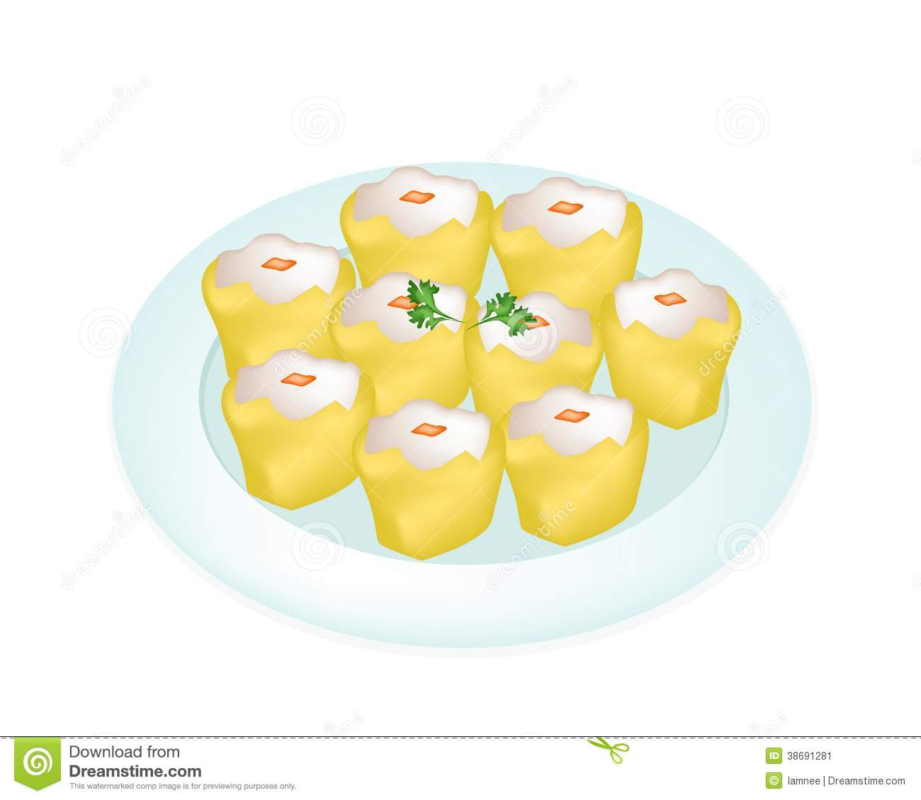 Dim Sum Stock Illustrations.