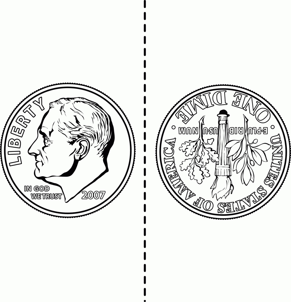 Coin Clipart Dime Front Back.
