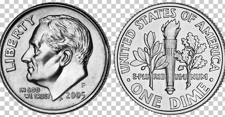 United States Dollar Roosevelt Dime Penny PNG, Clipart.