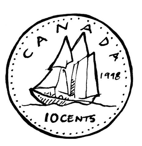Dime Coin Clipart.