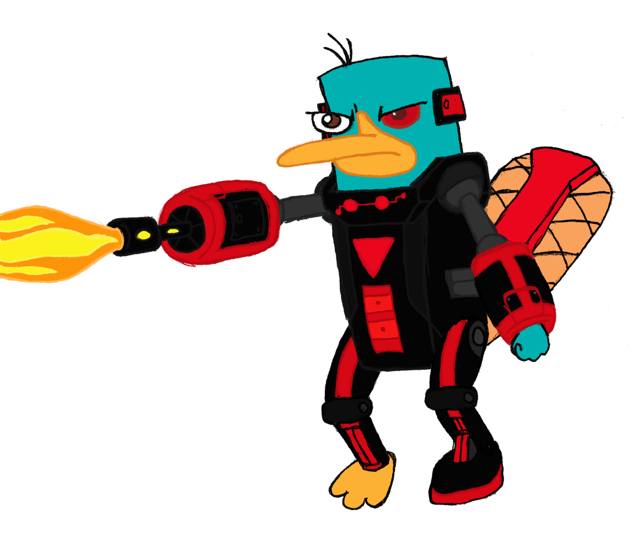 Perry the Platypus (Mysterious Dimension) clipart by RedJoey1992.