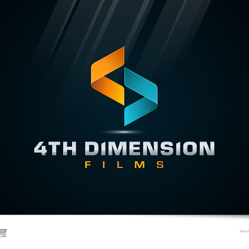 Create a unique logo design for \'4th dimension films\' (indie.