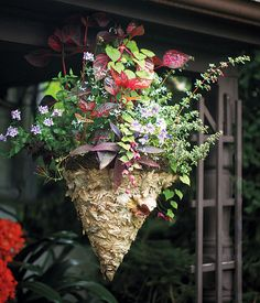 Triple Hanging Basket Stand.