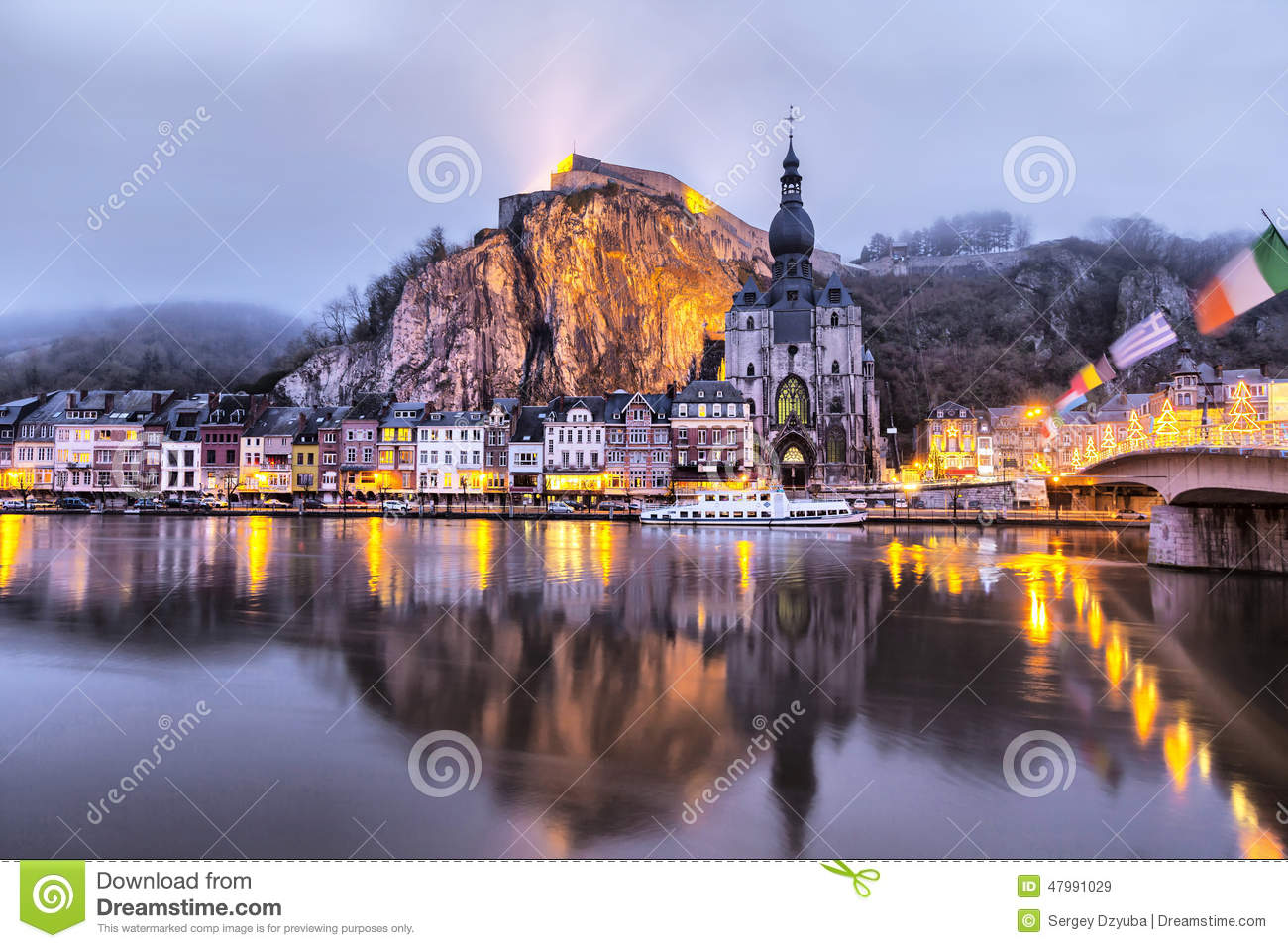 Dinant, Belgium Stock Photo.