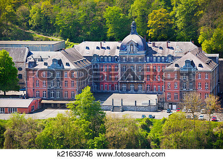 Stock Images of College Notre Dame de Bellevue, Dinant in Belgium.