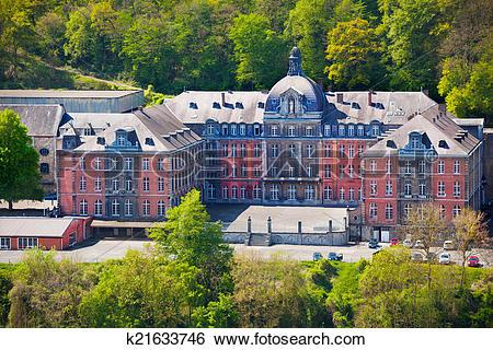 Stock Images of College Notre Dame de Bellevue, Dinant in Belgium.