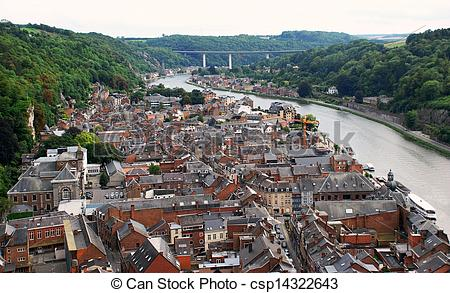 Stock Photo of Dinant and the River Meuse, Belgium.