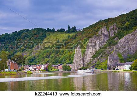 Stock Photo of Dinant city, Belgium k22244413.