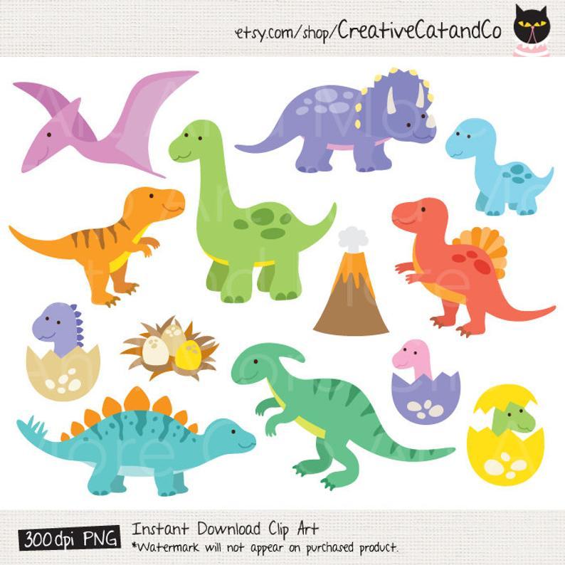 Dinosaur Clipart Dinosaur Clip Art T Rex Clipart Baby Dinosaur Clipart  Tyrannosaurus rex Dino Clipart Raptor clipart dinosaur kid clipart.