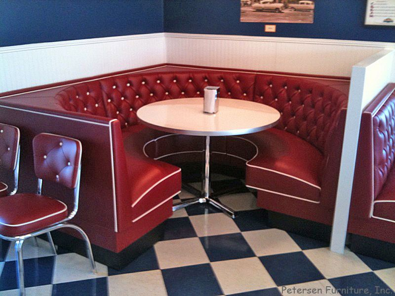 Diner Restaurant Booth 3/4 Circle.
