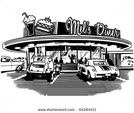 50s diner clipart.