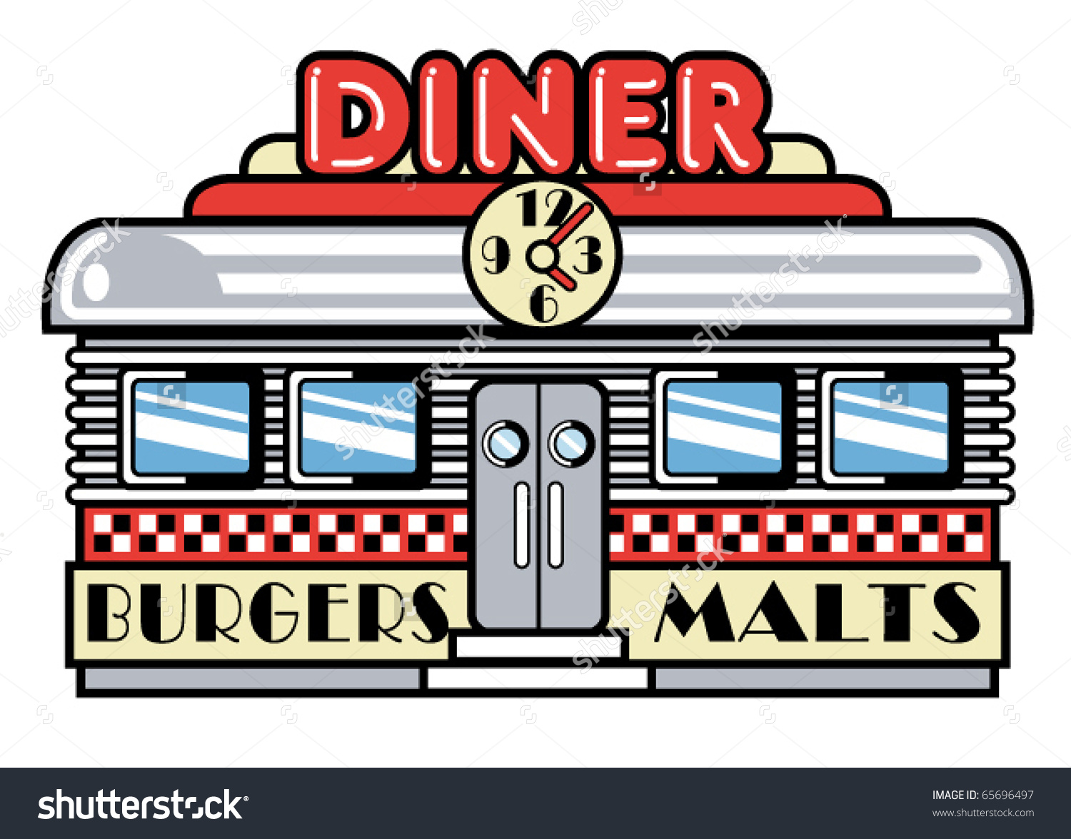 Diner Sign Clip Art.