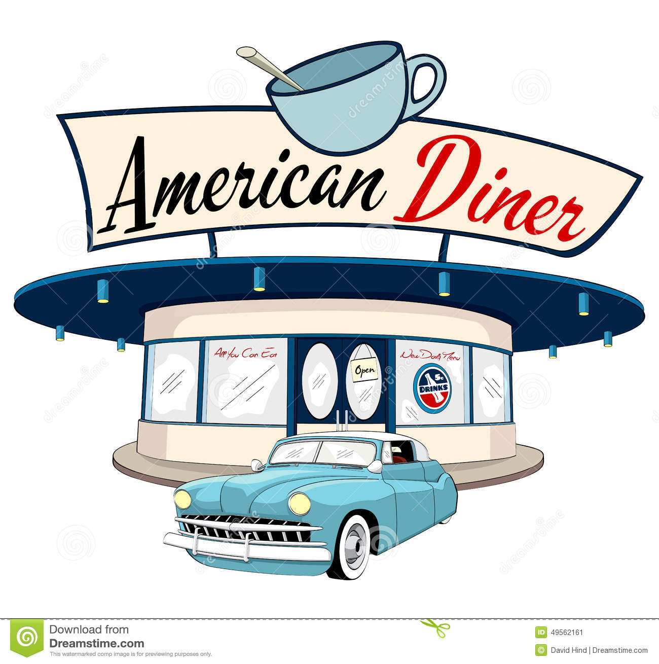 American diner clipart.