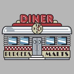 Diner Clipart.