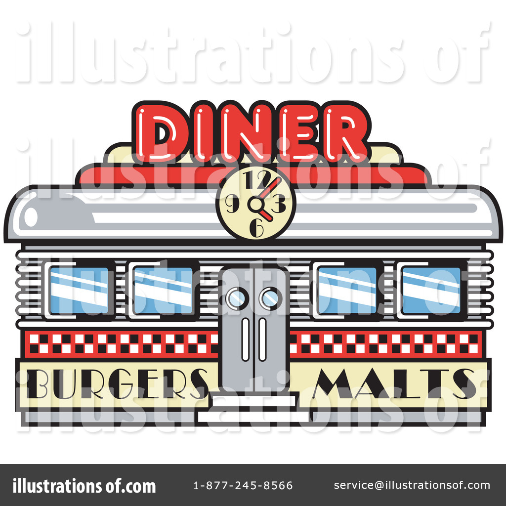 Diner Sign Clipart.