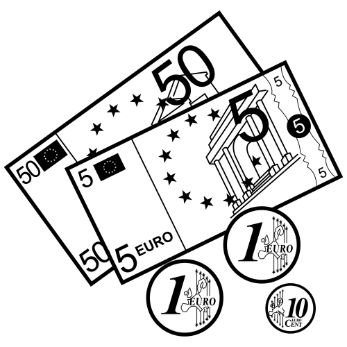 currency coloring pages french euro - photo#11