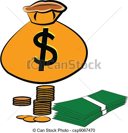 Vector Clipart of save your money.
