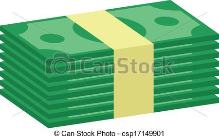 Vector Clip Art de dinero, vector, Pila, icono.