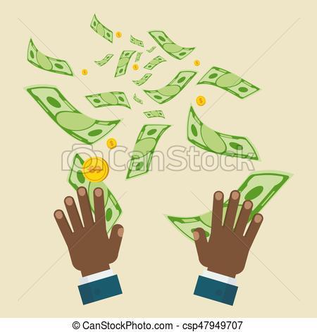 Mano negra vuela dinero. Una pérdida de concepto de dinero.