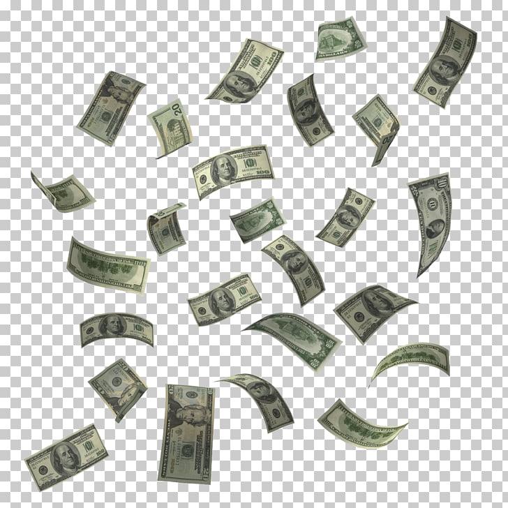 Billete de dólar, dinero en efectivo volando, dólares.