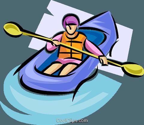 rubber dinghy Royalty Free Vector Clip Art illustration.