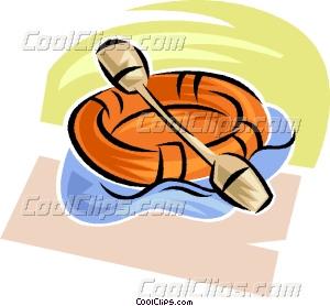 rubber dinghy Vector Clip art.