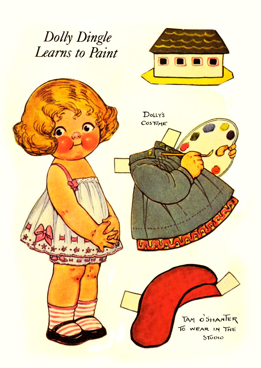 Dolly DIngle Vintage Paper Dolls.