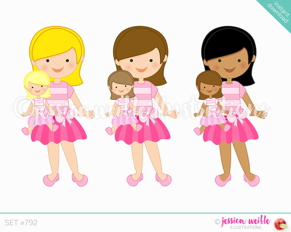 Paper doll clipart.
