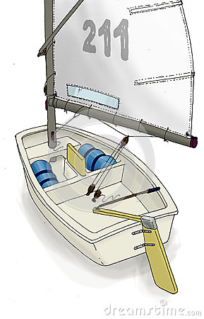 Optimist Sailboat Stock Illustrations.
