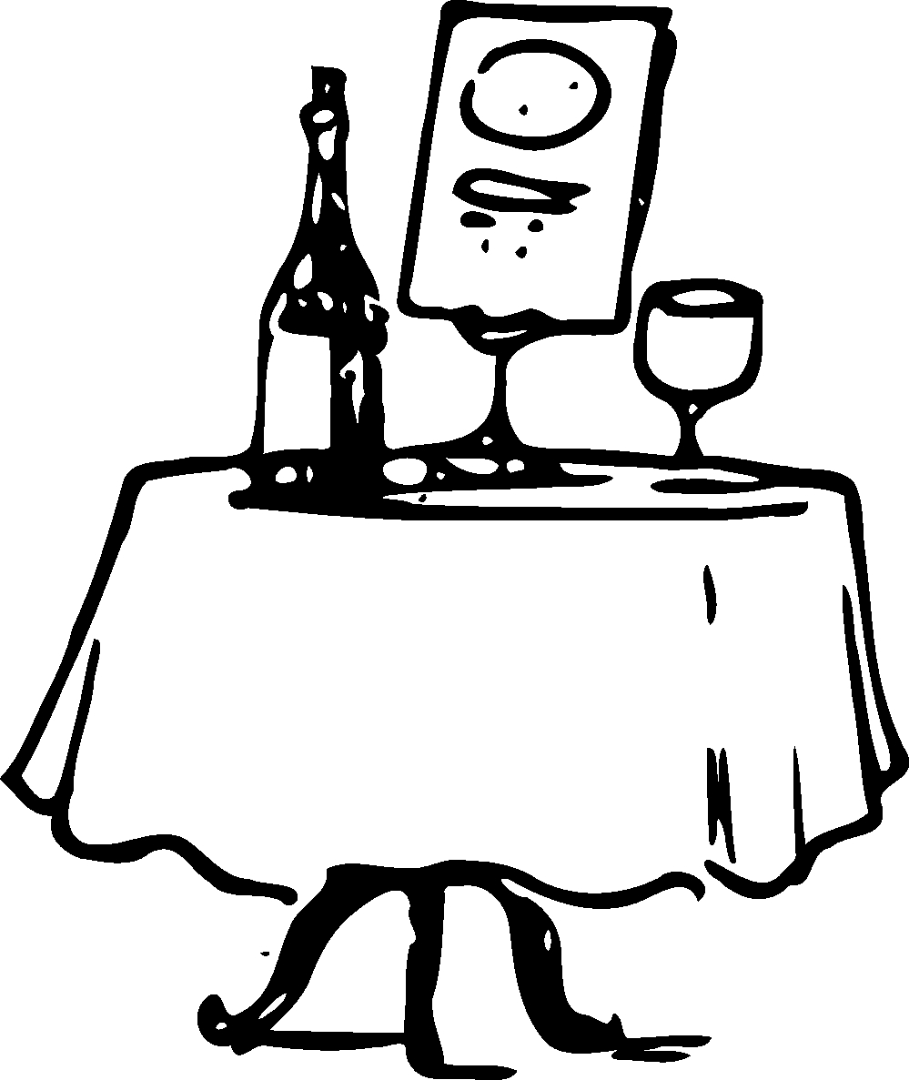 Chinese buffet table clipart.