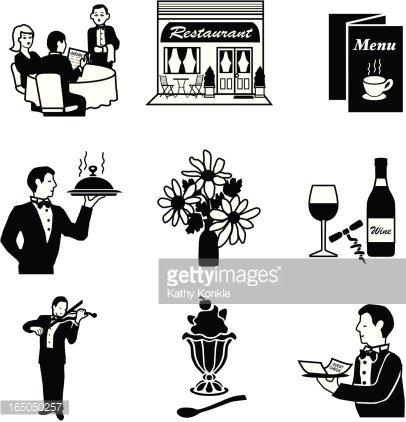 Dining out Clipart Image.