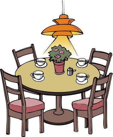 Collection of free Dining clipart kitchen table. Download on.